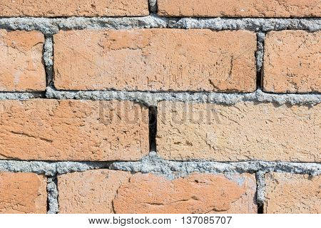 Red Brick Wall Texture For Background.