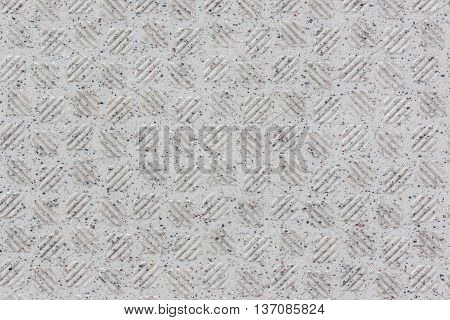 White tile texture non-slip surface pattern background.