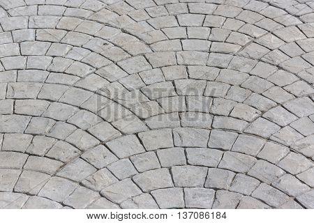 White Concrete Brick Floor Pattern