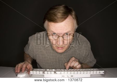 Man Learning Computer
