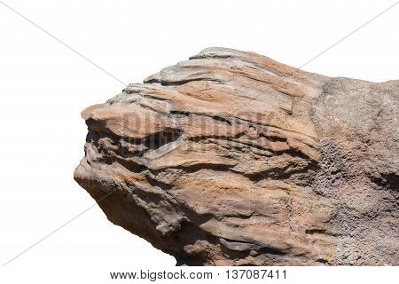 Big rock on isolated white background. Object with clipping path.