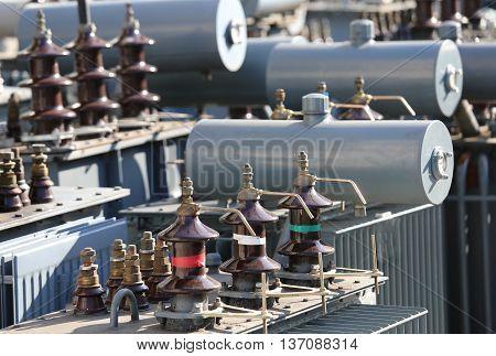 Storage Of Old Large Electric Voltage Transformers In The Landfi