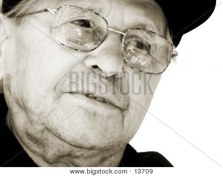 Sepia Old Man