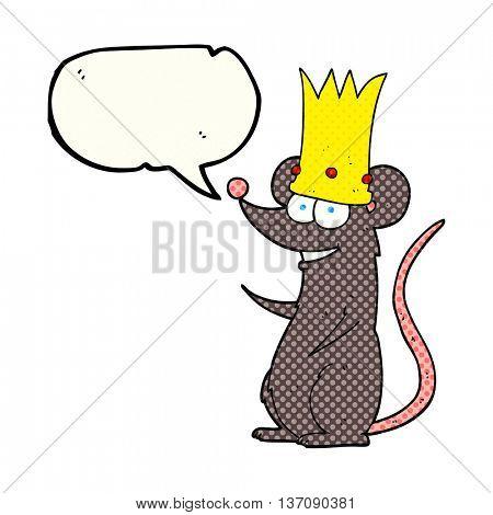freehand drawn comic book speech bubble cartoon rat king