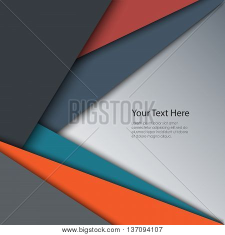 Abstract retro color triangles background vector eps 10
