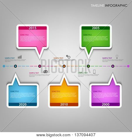 Time line info graphic with design text bubbles template vector eps 10