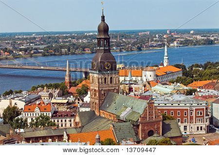 Riga Panorama City View