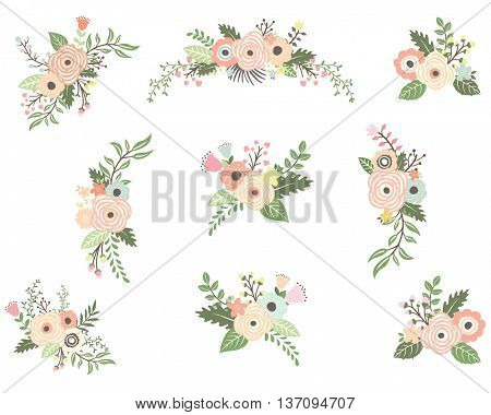 Floral Bouquet Elements