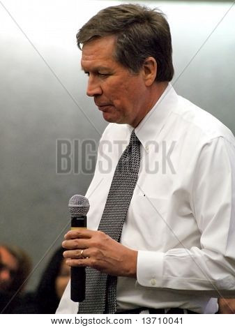 Ohio Governor John Kasich In Dayton Feb 16, 2011