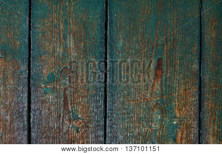 Wood planks from an old house. background