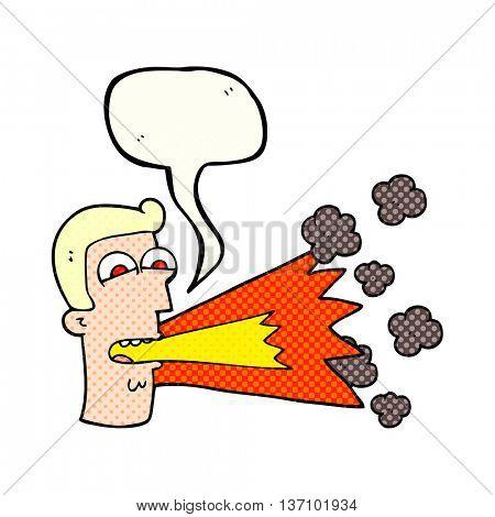 freehand drawn comic book speech bubble cartoon shouting man