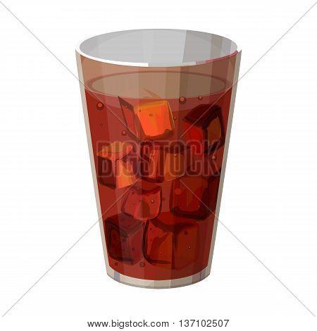 glass of cola vector illustration, background for the menu, vector illustration