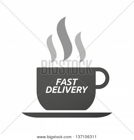 Coffee Mug Icon With  The Text Fast Delivery