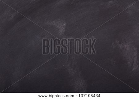 Blank Blackboard With Smudge Marks For Background