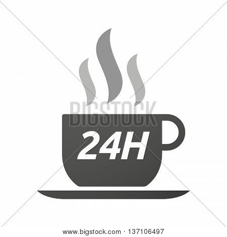 Coffee Mug Icon With    The Text 24H