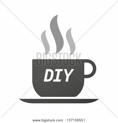 Coffee Mug Icon With    The Text Diy