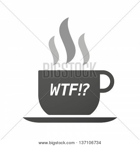 Coffee Mug Icon With    The Text Wtf!?