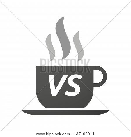 Coffee Mug Icon With    The Text Vs