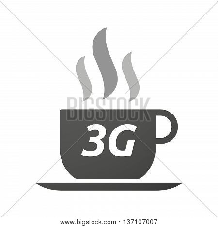 Coffee Mug Icon With    The Text 3G