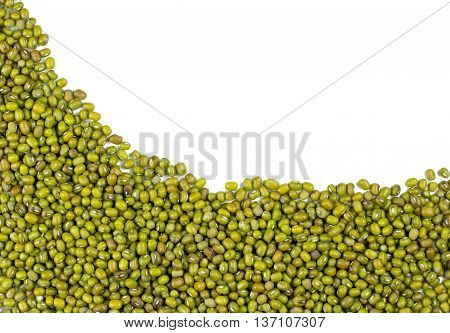 seeed Mung beans isolated on white background