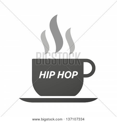 Coffee Mug Icon With    The Text Hip Hop