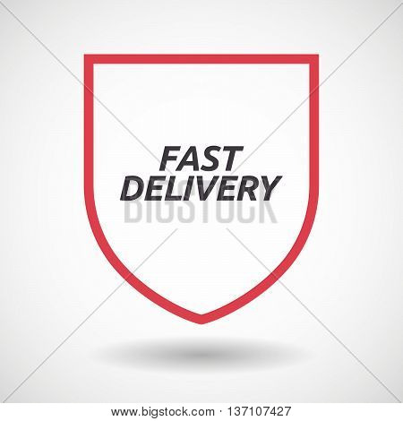 Isolated Line Art Shield Icon With  The Text Fast Delivery