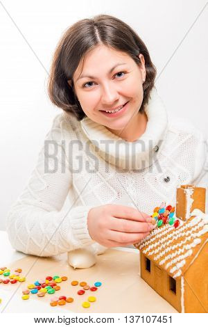 A Gingerbread House Prepares A Girl At Home