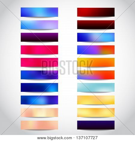 Banners colorful templates or website headers. Vector design