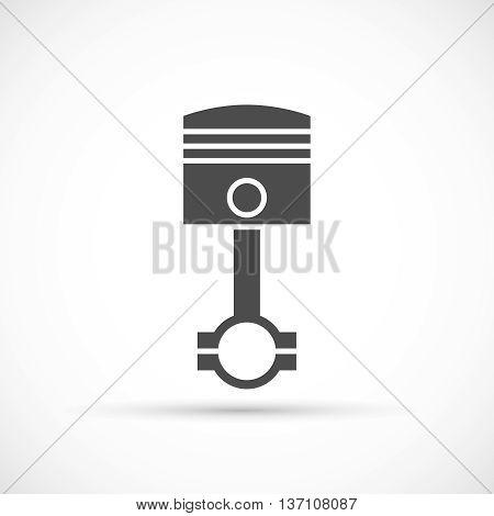 Piston engine icon. Car engine maintenance symbol
