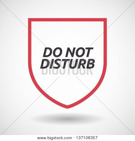 Isolated Line Art Shield Icon With    The Text Do Not Disturb