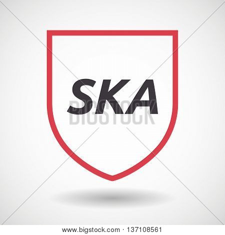 Isolated Line Art Shield Icon With    The Text Ska