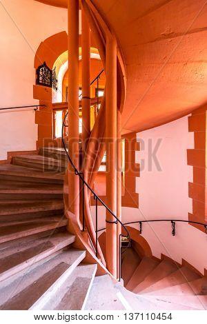 spiral staircase in german church