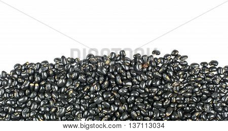 seed black beans isolated on white background