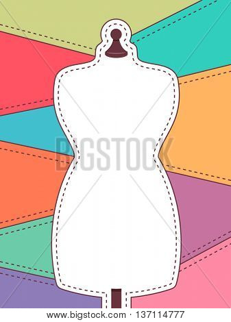 Colorful Frame Illustration Featuring a Mannequin