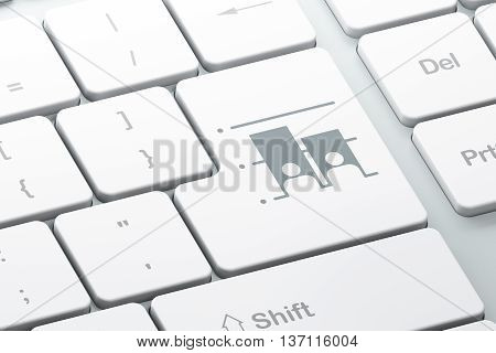 Politics concept: Enter button with Election on computer keyboard background, 3D rendering