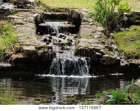 Waterfall, detail in the Valley, Merida Venezuela.