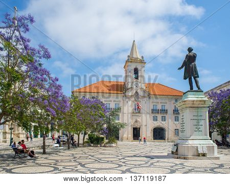 Praca Da Republic In Aveiro, Beira Litoral. Portugal.