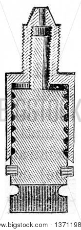 Section of self-regulation, vintage engraved illustration. Industrial encyclopedia E.-O. Lami - 1875.