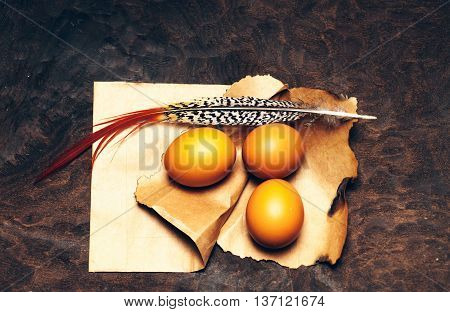 Eggs On Pack Paper