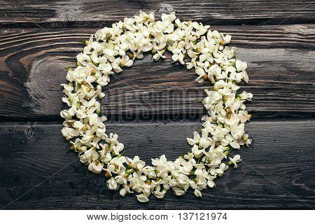 Beautiful Wreath Of White Acacia