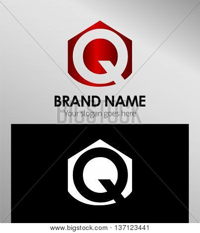 Letter q Alphabetical Logo Design Concepts template design vector