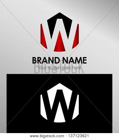 Letter w Alphabetical Logo Design Concepts template design vector