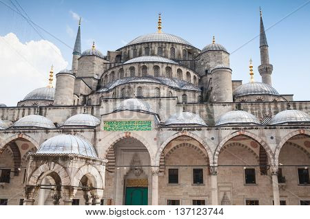 Facade Of Blue Mosque Or Sultan Ahmed