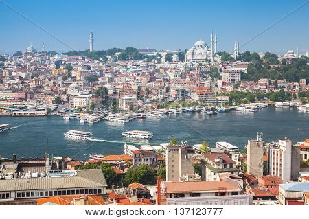 Istanbul, Turkey. Cityscape, Golden Horn