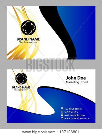 Vector abstract creative business cards Name card - Card visit