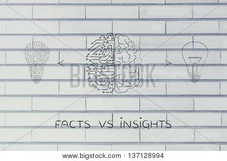Human & Circuit Brain Having Different Ideas, Facts Vs Insights