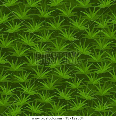 Cartoon seamless tilable green grass pattern 1