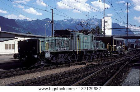 Swiss Class CE 6/8, No. 14281 - Buchs, 1980