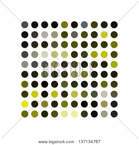Abstract powerful dot background pattern on white