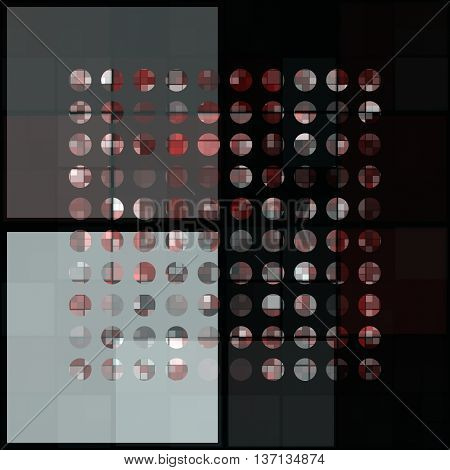 Abstract powerful dot background pattern in grey and red